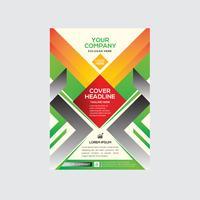 Design colorido de panfleto comercial elegante moderno vetor