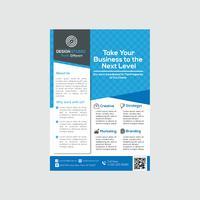 Design de modelo de panfleto de negócios criativos modernos vetor