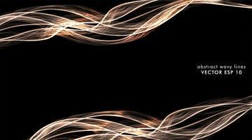 Linhas de onda colorida abstrata