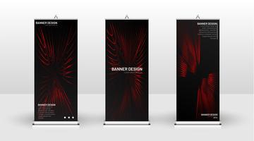 Design de modelo de banner vertical