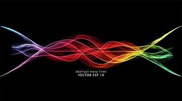 linhas de onda de fundo vetor