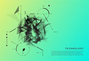 Cartaz de movimento abstrato tecnologia vetor