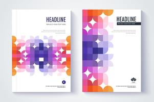Design de capa de relatório anual de empresa colorida vetor