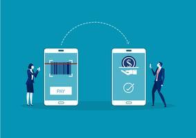 conceito de pagamento on-line de negócios vetor