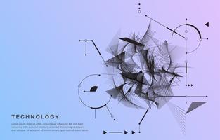 Forma de movimento abstrato tecnologia vetor