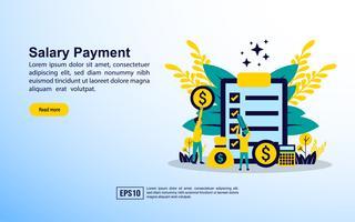 Página de destino do pagamento de salário
