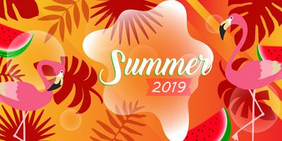 Modelo de cartão de verão