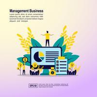 Página inicial de negócios de gerenciamento