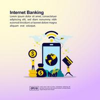 Ilustração de Internet banking