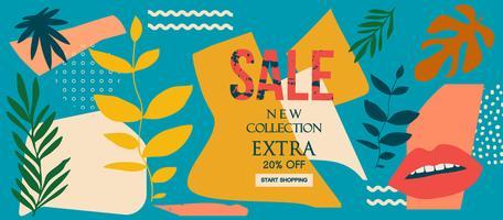 Novo banner de site de venda de coleção