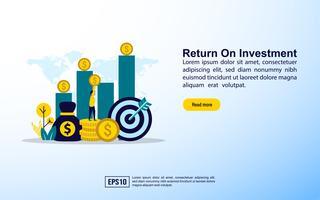 Retorno do investimento vetor