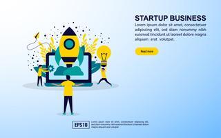 Página da Web de negócios de inicialização