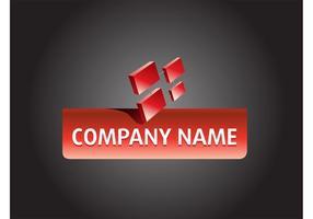 Design do logotipo da empresa vetor