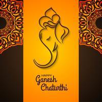 Mandala decorativa Ganesh Chaturthi design vetor