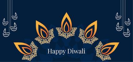 Feliz Diwali lâmpada decorativa design