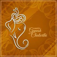 Projeto moderno de saudação de Ganesh Chaturthi vetor