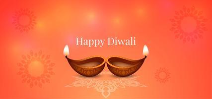 Feliz Diwali brilhante design brilhante