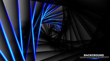 Ilusão de ótica na forma de um triângulo redondo vetor
