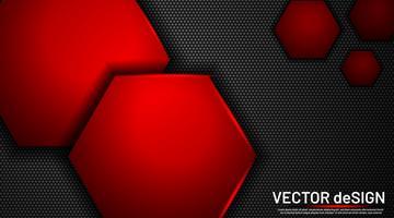Resumo metálico com um fundo de hexágono vetor
