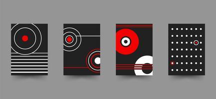 Conjunto de modelo de capa brochura abstrata