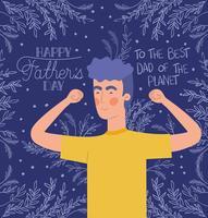 feliz dia dos pais cartão vetor