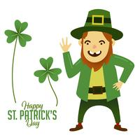 Feliz rosto St Patricks dia Cartoon personagem mascote