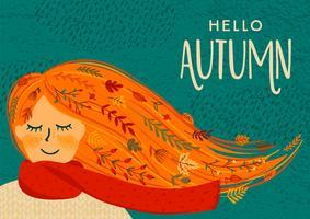 Olá Outono Cartão