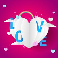 Baloon do amor para o evento do dia dos namorados vetor