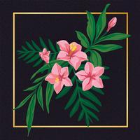 Elementos de design vintage de bela flor floral