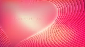 Design de saudações de amor vetor