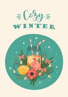 Inverno no cartão da cidade