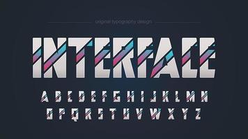 Tipografia futurista geométrica abstrata