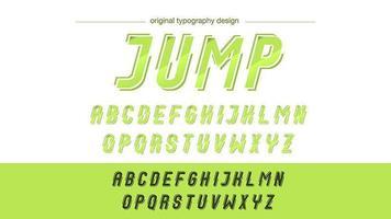 Tipografia de ação verde neon