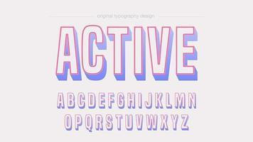 Tipografia de contorno ousado brincalhão colorido vetor