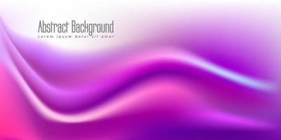 Forma de onda líquida em fundo de cor roxa vetor