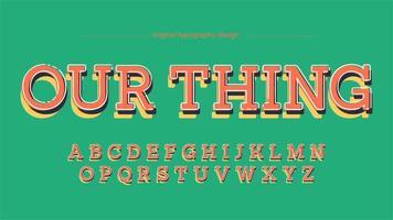 Tipografia colorida com serifa de laje divertida