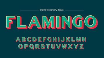 Tipografia simples em negrito de cores retrô