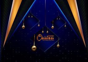 Cartão azul escuro do Natal vetor