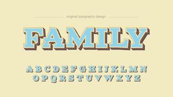 Tipografia dos desenhos animados de laje azul claro