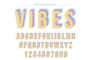 Discoteca Vintage tipografia colorida vetor