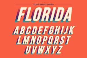 Tipografia levantada em negrito colorida vintage