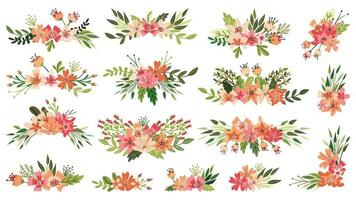 Buquê de primavera, arranjos florais vetor