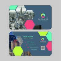 Cartão de visita colorido moderno