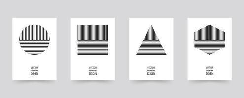 Conjunto de brochura de formas geométricas preto