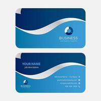 O azul acena o cartão de visita colorido moderno