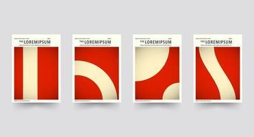 Conjunto de modelo de capa brochura vermelho
