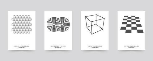 Conjunto de modelo de capa brochura branco vetor