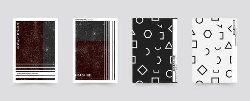 Conjunto de capa brochura abstrata