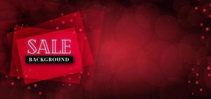 Fundo de banner vermelho venda vetor