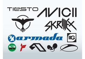 Melhores DJs vetor